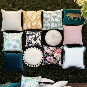 H&M home floral  cushion cover